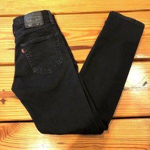 Levi's 511 Mens Slim Fit Stretch Jeans 31X32 Black
